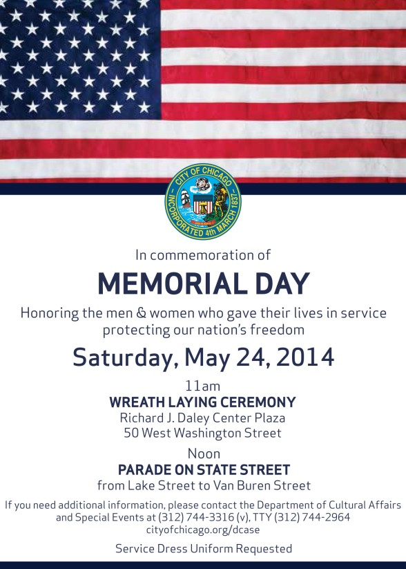 Memorial Day Invitation PUBLIC Ceremony 2014