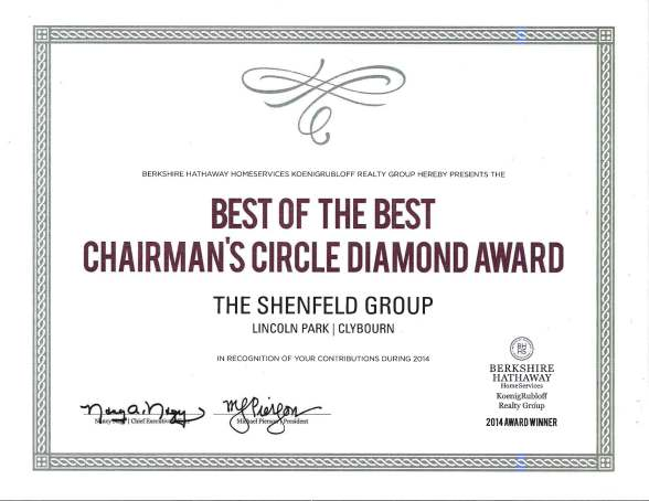 2015 Chairmans Circle Diamond Award